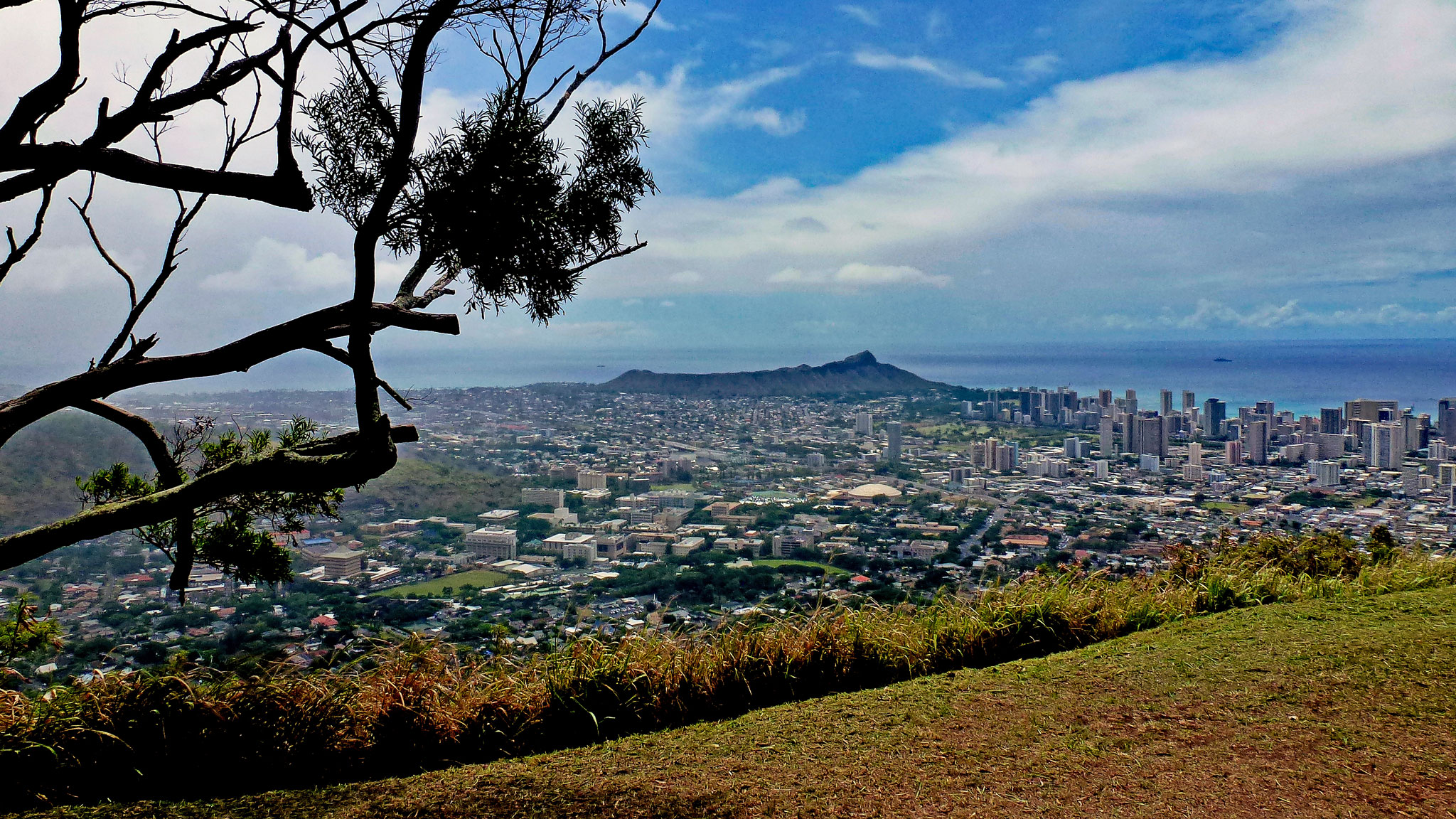 View of Honolulu from Tantalus Lookout in Honolulu.